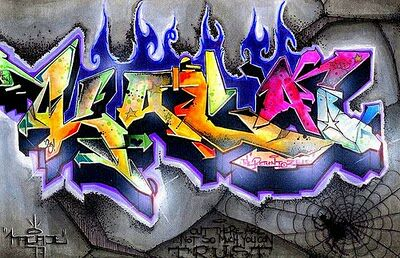 3d Graffiti Alphabet Art Design By Katanakuma