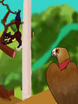 Birdy Foxy Rap Battle by SaviorFoxOwlis