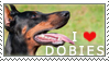 Doberman Stamp by chinarose93