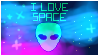I love space stamp f2u by SoulLovesArt