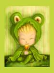 Froggy hood by Adelaida