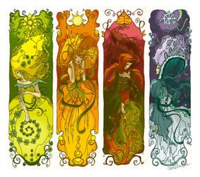 Four seasons bookmarks by Adelaida