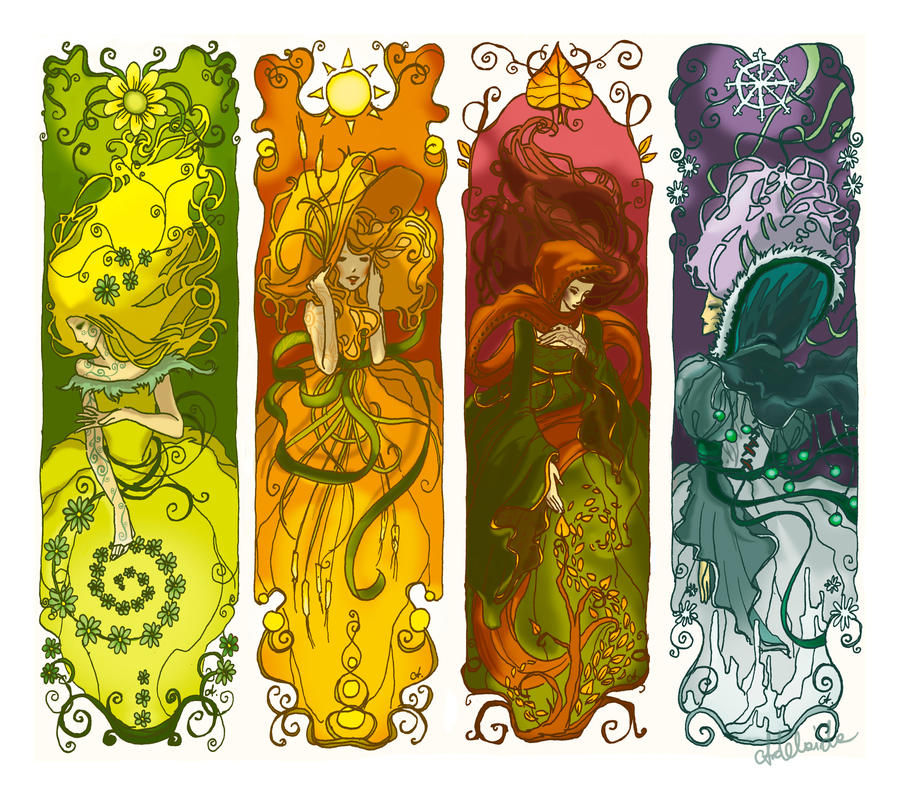 Four Seasons Bookmarks By Adelaida On Deviantart