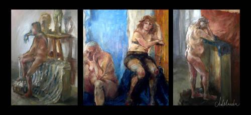 My sketchy paintings by Adelaida