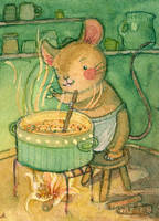 ACEO - The Soup by Adelaida