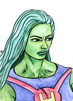 She-Hulk Watercolor by BungZ