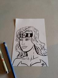 Wonder Woman Sketch by BungZ