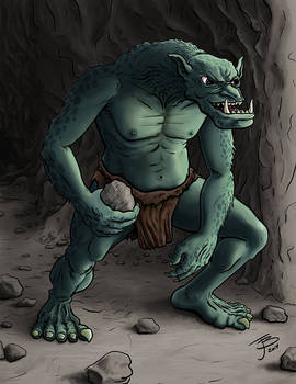 Rock Throwing Troll