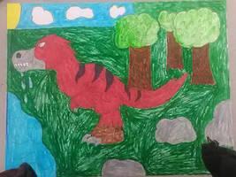 juvenile T,Rex (art project)