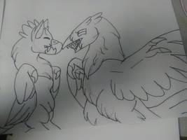 a gift for my favorite birb artist by megakyurem4188