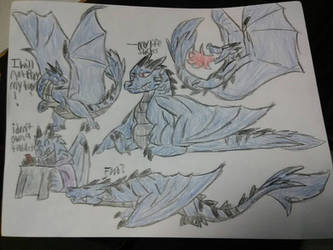 blue typhoon sketch dump by megakyurem4188
