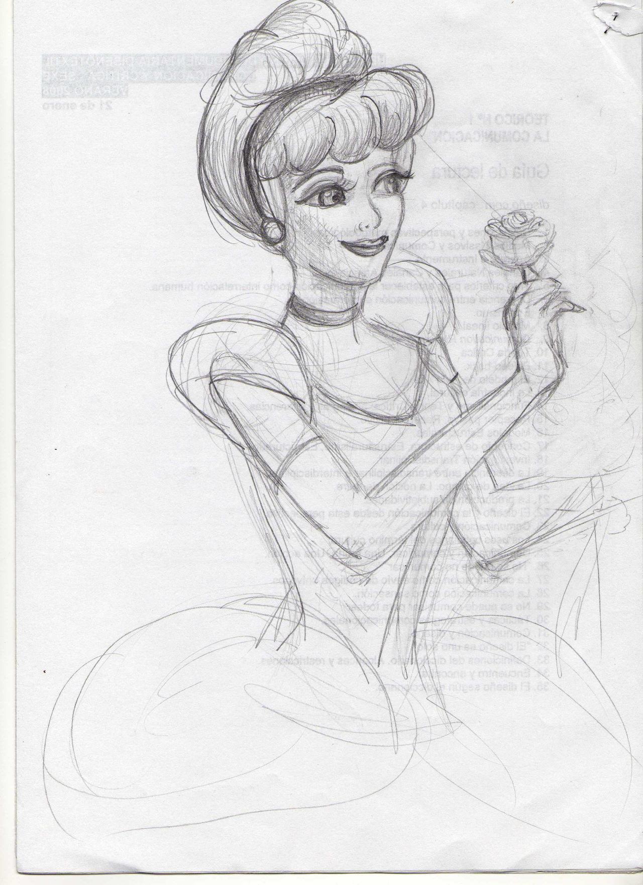 cinderella sketch by c...