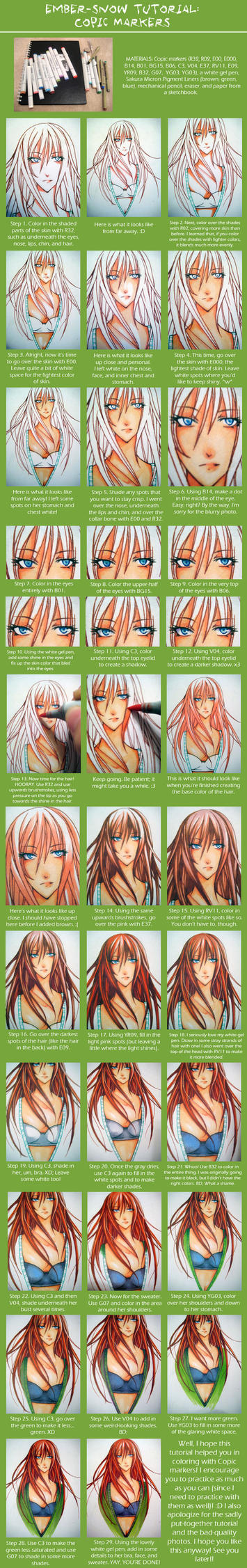 TUTORIAL: Copic Markers by ember-snow