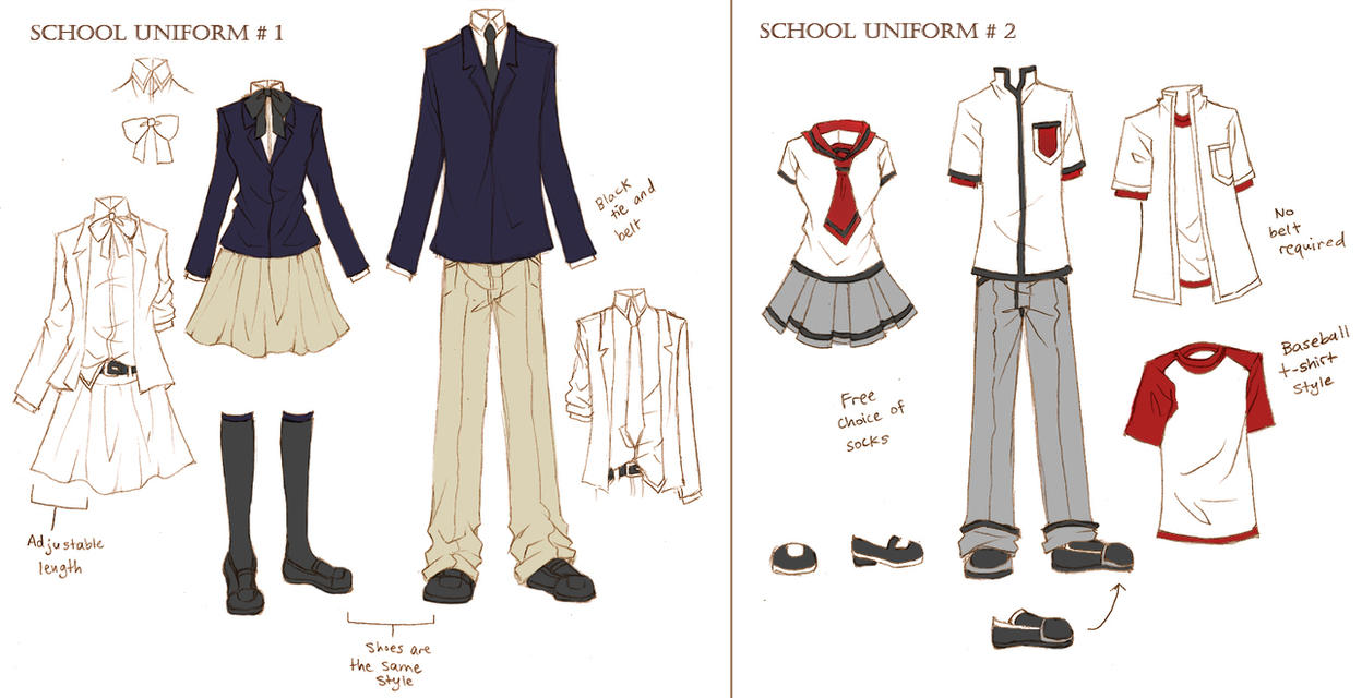 Solstice School Uniforms by ember-snow