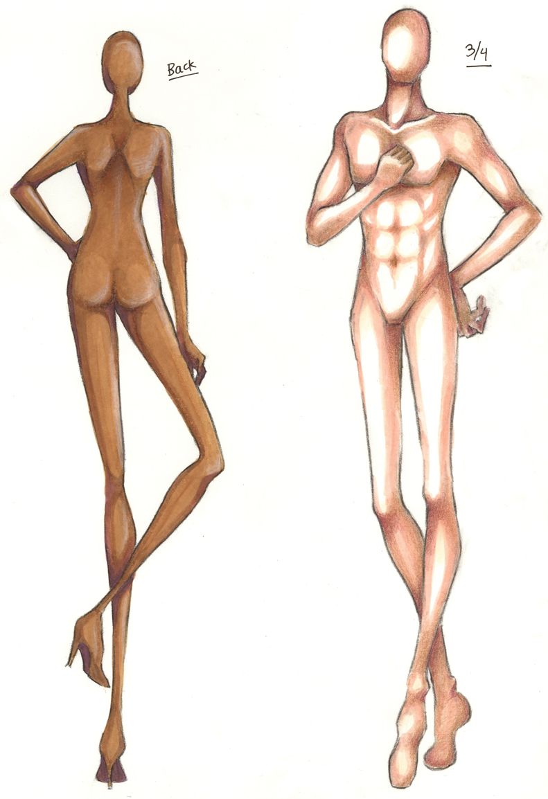 Croquis Front And Back - More information - Djekova