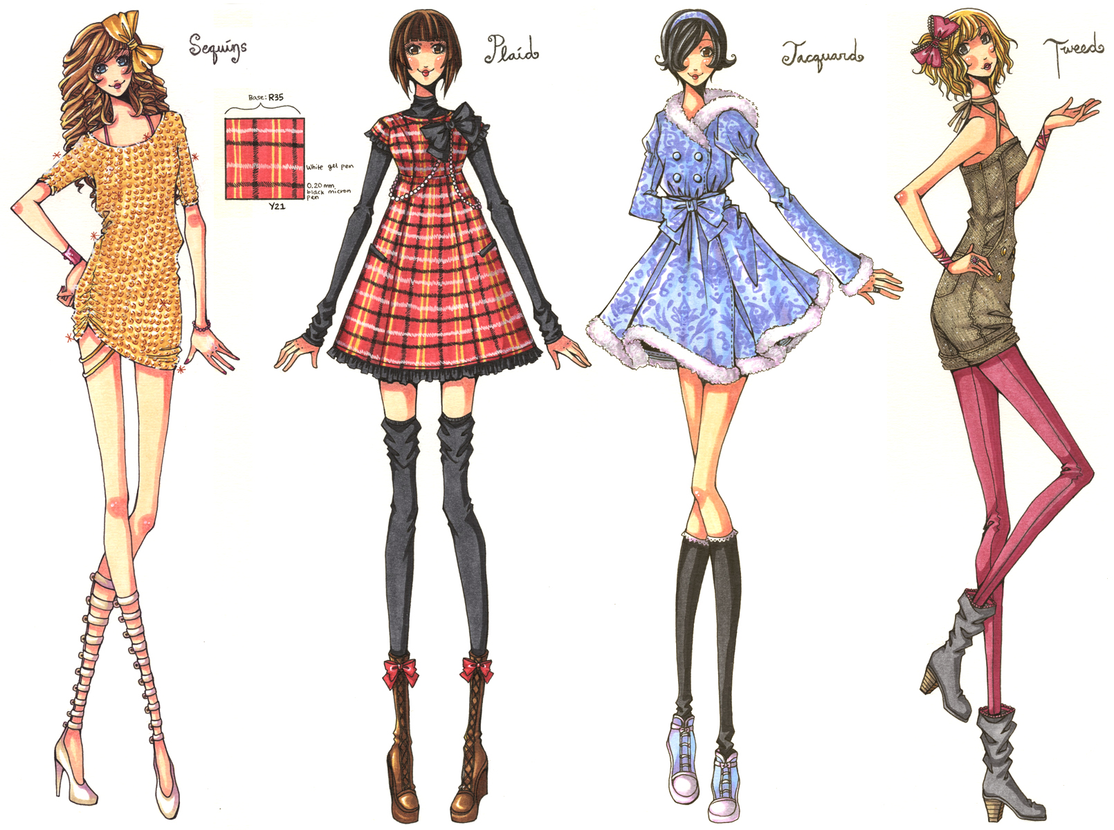 Dhe 321 Fabric Set 02 By Ember Snow On Deviantart