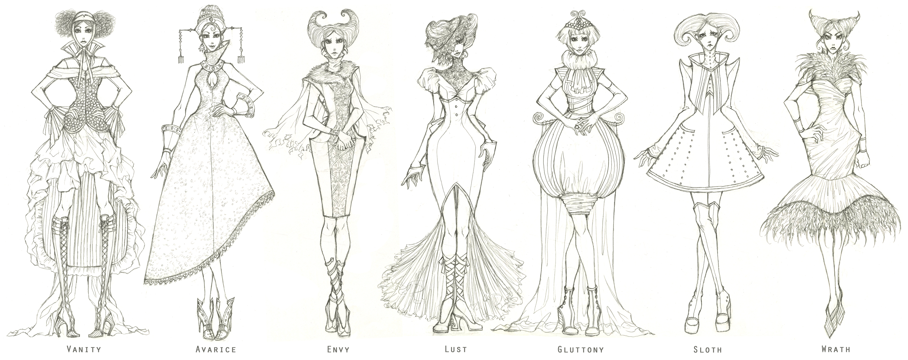 309 best fashion illustration - Alexander McQueen (by for him) 50