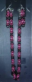 IronHeart Bracelet and Earring Set Enameled Copper