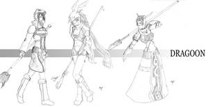 FFX-2 Dragoons Black and White by Zatch