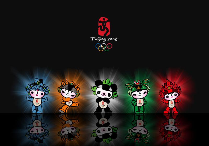 Beijing Olympics Mascots by powerpuffjazz