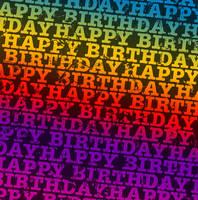 Happy Bday Rainbow Texture2 by powerpuffjazz