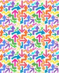 Rainbow Arrows Texture