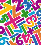 Rainbow Letters Pattern