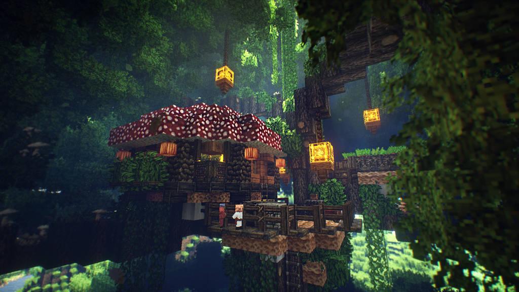 Mushroom Treehouse by soongpa