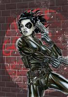 X-men's Domino by Szigeti