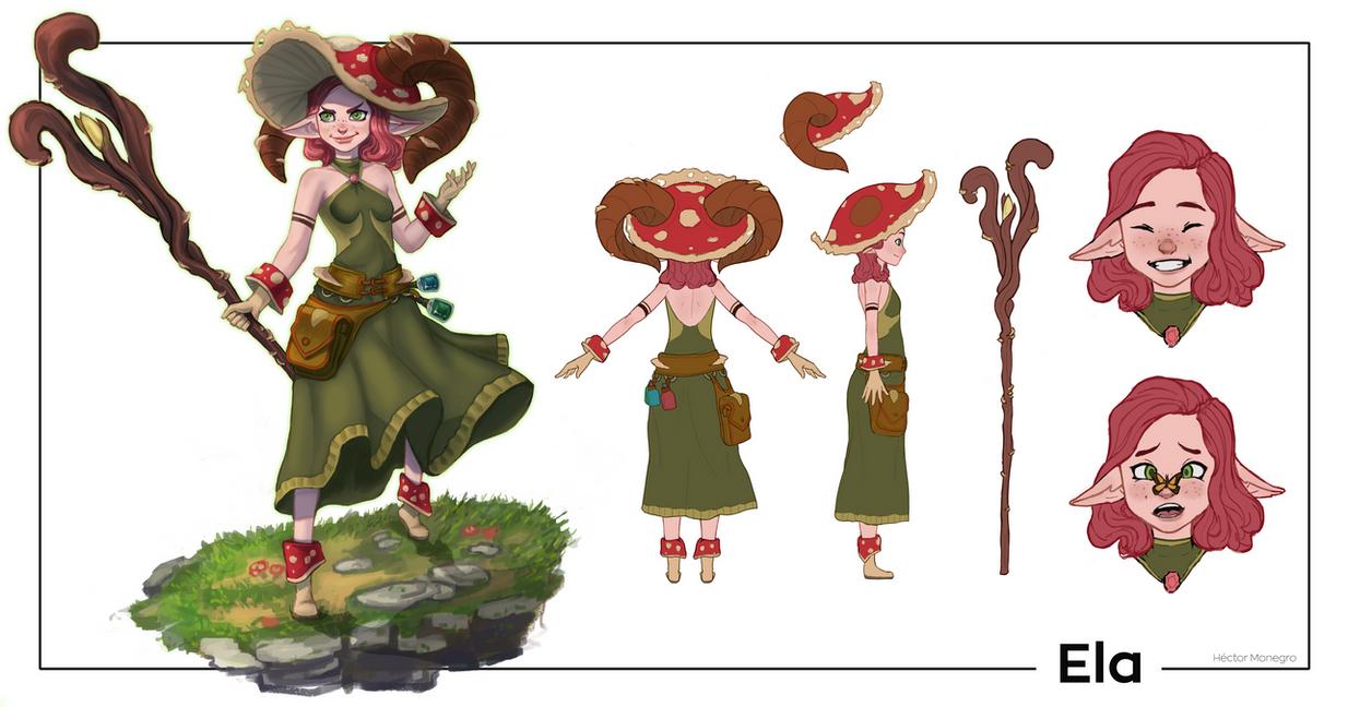 Ela - Character Sheet by Hector-Monegro