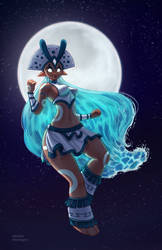 Goddess of the moon by Hector-Monegro