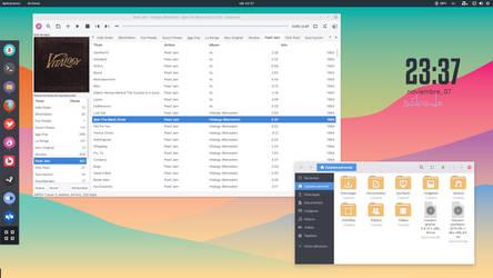 Manjaro Gnome 3.18 desktop, november by jomada74