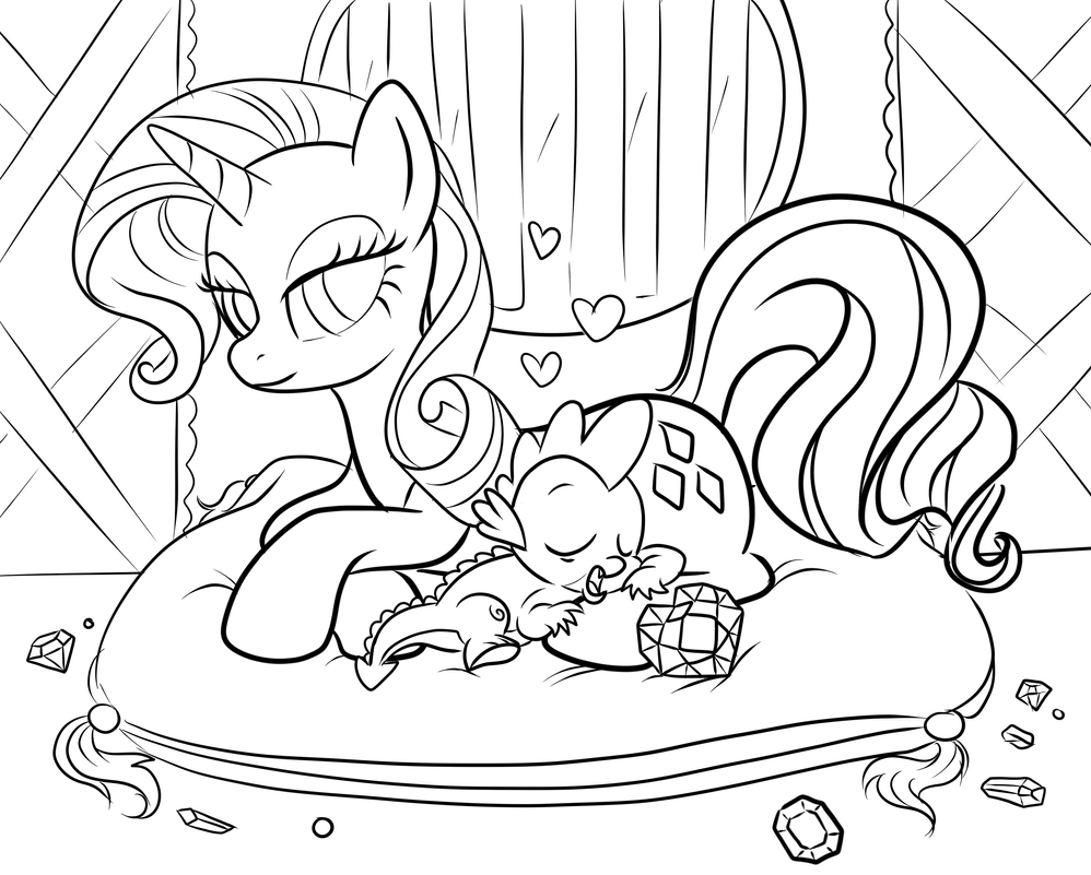 LINES: Naptime with Spike and Rarity by Miserie