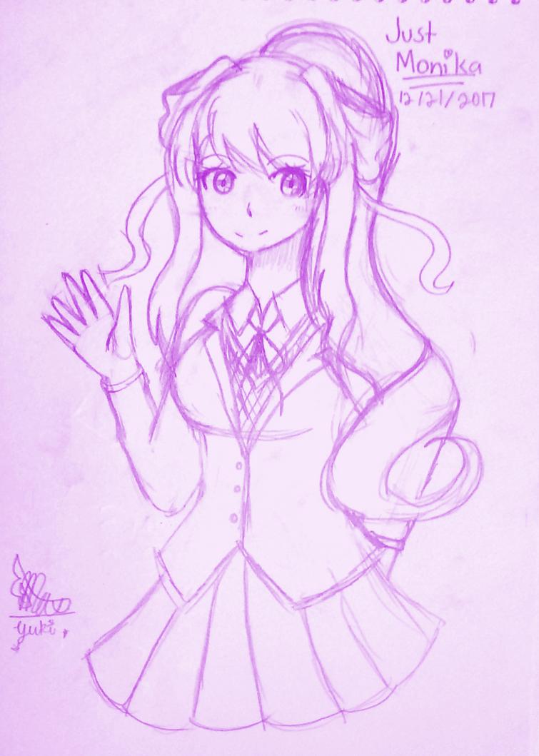 A Just Monika sketch by Pripertstar