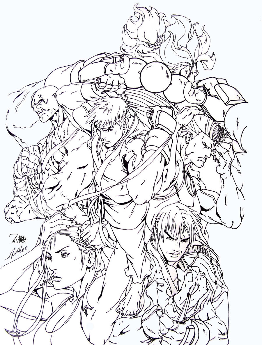 street fighter coloring pages - photo#1