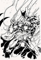 Batman as White Lantern by Jimbo Salgado by NewEraStudios