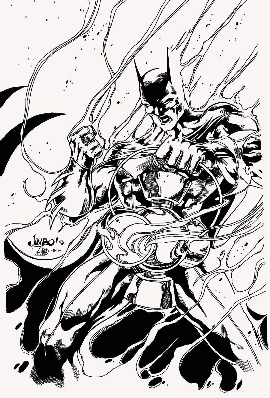Batman as White Lantern by Jimbo Salgado by NewEraStudios