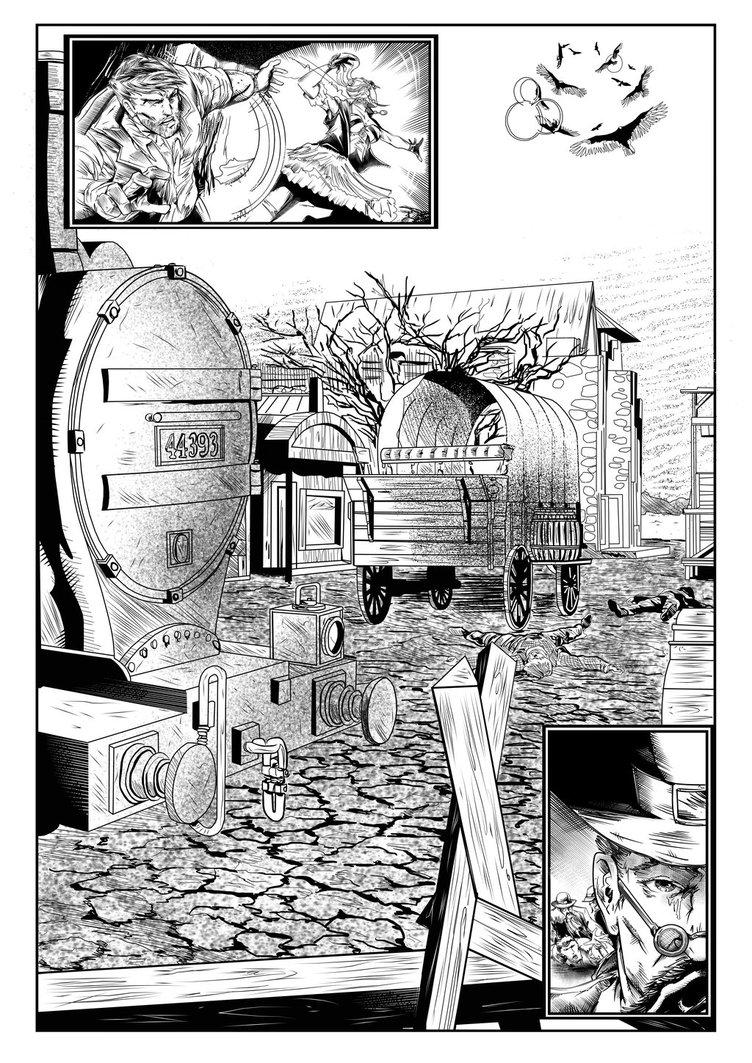 Steampunk Western Page 5 By Jim O'Riley by NewEraStudios