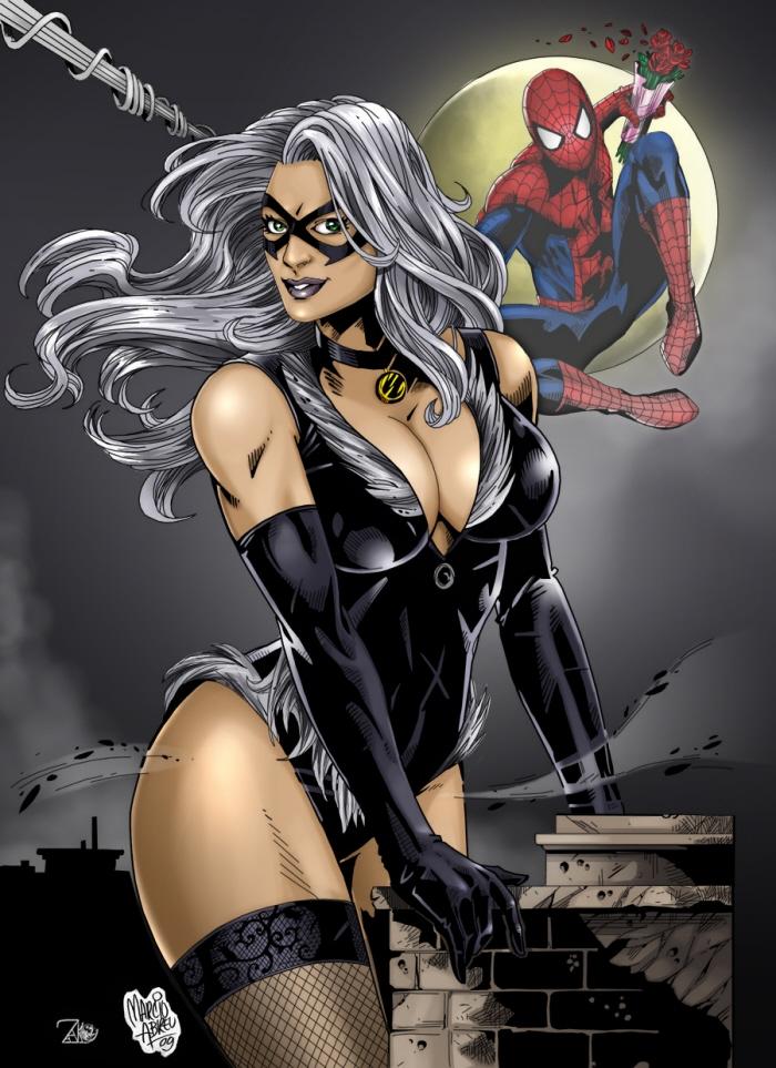 Black Cat Spiderman Colored by Kefas Armando by NewEraStudios