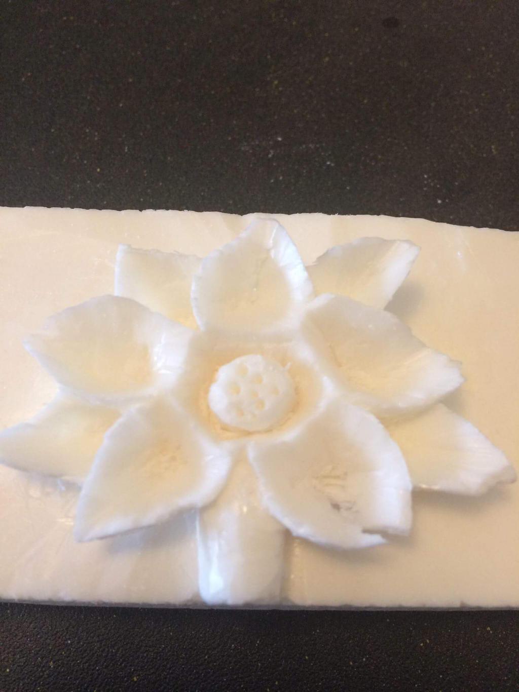 Flower Carved Soap