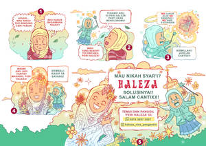 Commercial comic for Haleza Barber
