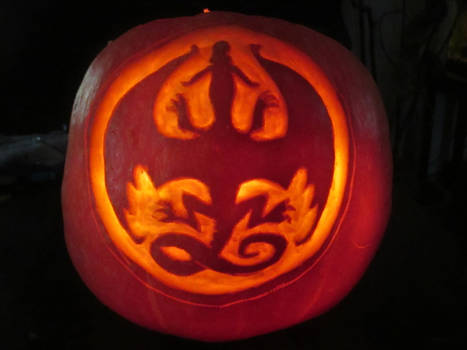 Wings of Fire Logo Pumpkin 2016
