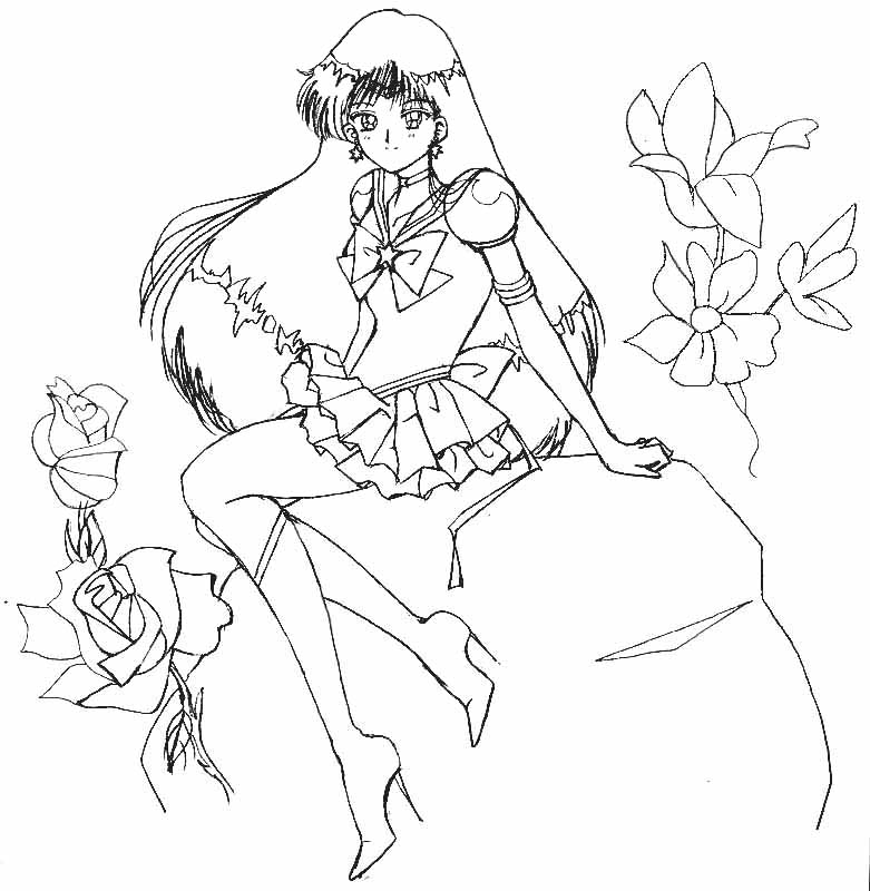 Eternal sailor mars lineart by aleena on deviantart for Sailor mars coloring pages
