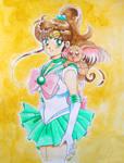 Sailor Jupiter with Cabbit by aleena