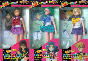 Sailor Moon S Outer Bandai Asia Doll Set by aleena