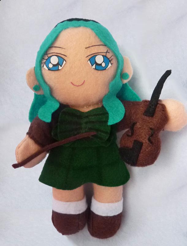 Sailor Neptune Michiru Custom Plush Doll by aleena