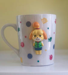 Handmade 3D Isabelle Mug from Animal Crossing by aleena