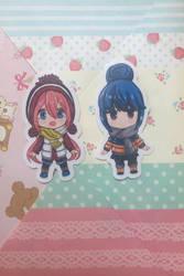 Laid Back / Yuru Camp Rin and Nadeshiko Stickers