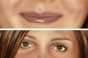 Portrait of the bluey close up