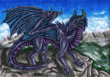 Mountain Dragon by NecrosisTheDark